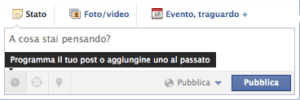 Programmare un post su Facebook