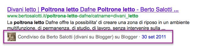 """""""Poltrona letto"""" SERP Google"""