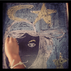 Disegno stella luna